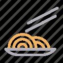 chopstick, dish, food, noodles, plate