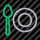 dish, kitchen, plate, spoon, utensils