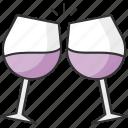 celebration, cheers, glass, wine