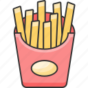 chips, fastfood, fries icon