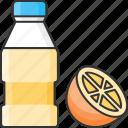 bottle, juice, orange, refreshing icon