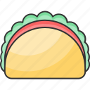 food, mexican, tacos, meal icon