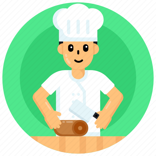 Butcher, meat killer, slaughterer, boner, butcher person icon - Download on Iconfinder