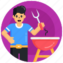 barbecue, barbecue grill, cooking meal, foodie, chef
