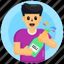 wine, popping cork, drink, beverage