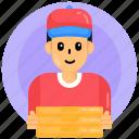 food service, delivery boy, pizza boy, delivery man, delivery person