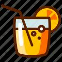 alcohol, cocktail, fresh, juice, lemonade, orange, soda