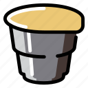 beverage, caffeine, coffee, cup, drink, paper, plastic icon