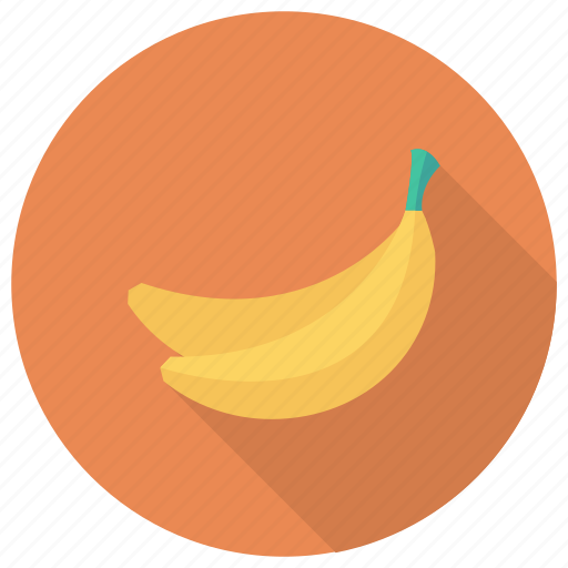 banana, food, fruit, healthy, tropical, yellow, yellowbanana icon