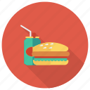 burger, cheeseburger, coke, drink, fastfood, food, hamburger icon