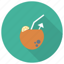 beach, coco, coconut, drink, fruit, nut, summer icon