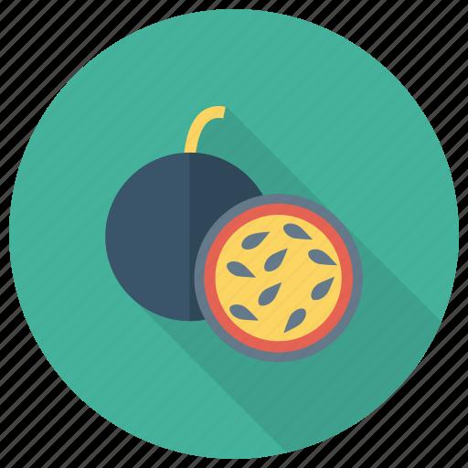 fig, flavor, food, fresh, fruit, half, nutrition icon
