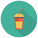 drink, glass, grape, juice, milk, orange, summer icon