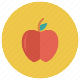 apple, food, fresh, fruit, health, red, sweet icon