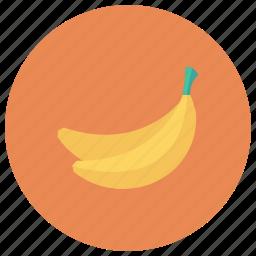 banana, food, fruit, healthy, tropical, yellow, yellowbanana icon