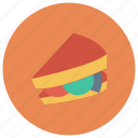 bread, cafe, cheese, fast, food, lunch, sandwich icon