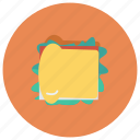 bread, cheese, fast, food, lunch, restaurant, sandwich icon