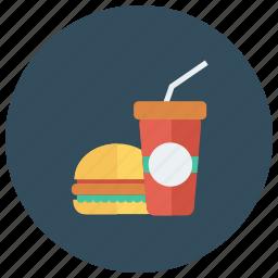 beef, burger, drink, fastfood, food, hamburger, junkfood icon
