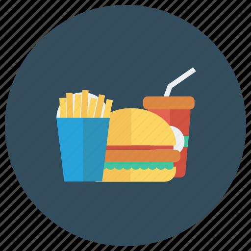 burger, coke, drink, fastfood, food, fries, hamburger icon