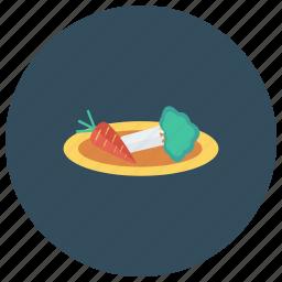 cabbage, carrot, cauliflower, food, fruit, salad, vegetable icon