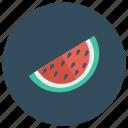 summer, slice, watermellon, food, season, fruit, melon