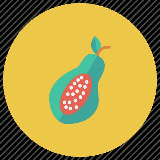 Papaya, sweet, fruit, half, vegetable, fresh, eat icon
