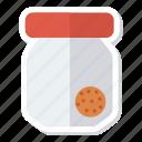 box, cookies, brownies, bowl, cookiesbox, jar, present icon
