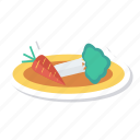 cabbage, carrot, cauliflower, food, fruit, salad, vegetable icon