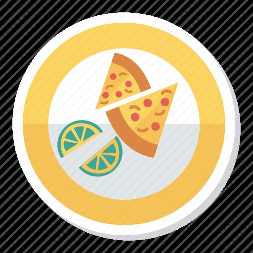 Fast, food, halflemon, lime, meal, pizza, slice icon - Download on Iconfinder