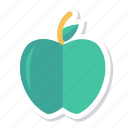 apple, food, fresh, fruit, green, red, sweet icon