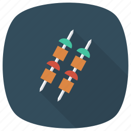 barbecue, barbecuegrill, food, grillfood, meat, shashlik, tikka icon