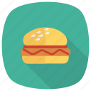 burger, cheeseburger, cooked, fastfood, food, hamburger, meal icon