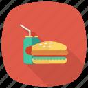fastfood, hamburger, food, coke, drink, cheeseburger, burger