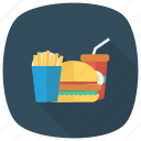 burger, coke, drink, fastfood, food, fries, hamburger icon