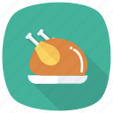 chicken, food, fried, leg, meat, restaurant, roast icon