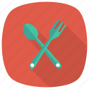 cooking, crossspoon, food, fork, kitchen, spoon, utensil icon