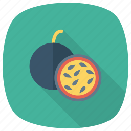 fig, flavor, food, fresh, fruit, half, nutrition icon