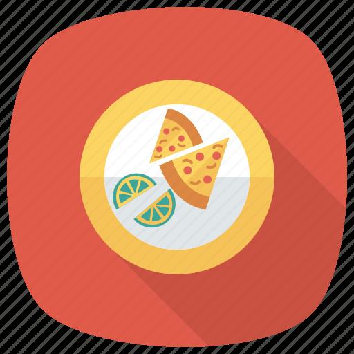 fast, food, halflemon, lime, meal, pizza, slice icon