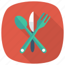 cooking, food, fork, kitchen, knife, spoon, utensil icon