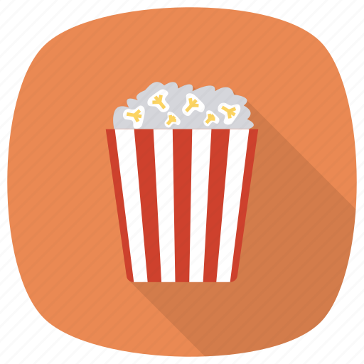 cinema, corn, film, food, movie, popcorn, vegetable icon