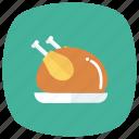 chicken, food, fried, leg, meat, restaurant, roast icon