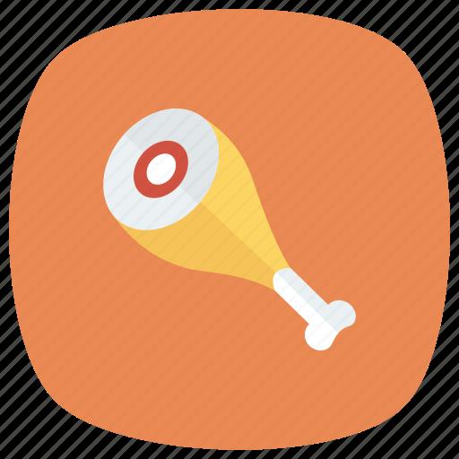 Chicken, chickenleg, chickenpiece, drumstick, leg, meat, piece icon - Download on Iconfinder