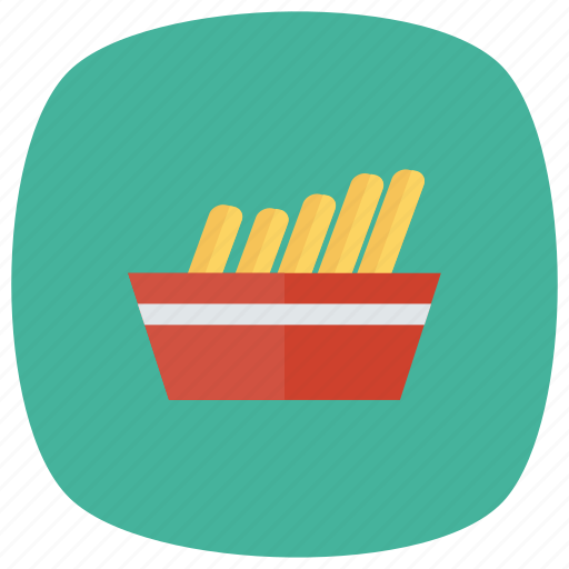 Potato, food, cooking, fries, french, frozen, chips icon