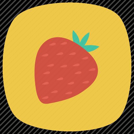 food, freshfruit, fruits, healthy, red, strawberry, summer icon