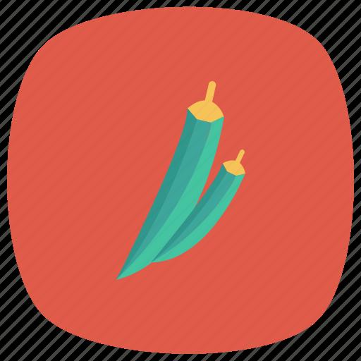 bhindi, finger, food, ladies, ochro, okra, vegetable icon