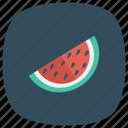 food, fruit, melon, season, slice, summer, watermellon icon
