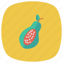 eat, fresh, fruit, half, papaya, sweet, vegetable icon