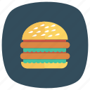 breakfast, burger, fastfood, food, fries, hamburger, meal icon