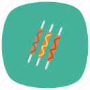 bbq, fast, fastfood, food, grill, hot, hotdog icon