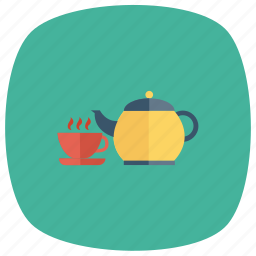 coffee, cup, drink, tea, teacup, teapot, teatime icon